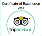 Certificate of excellence for 2018 from Trip Advisor. Click here to view Orient Inn's reviews.